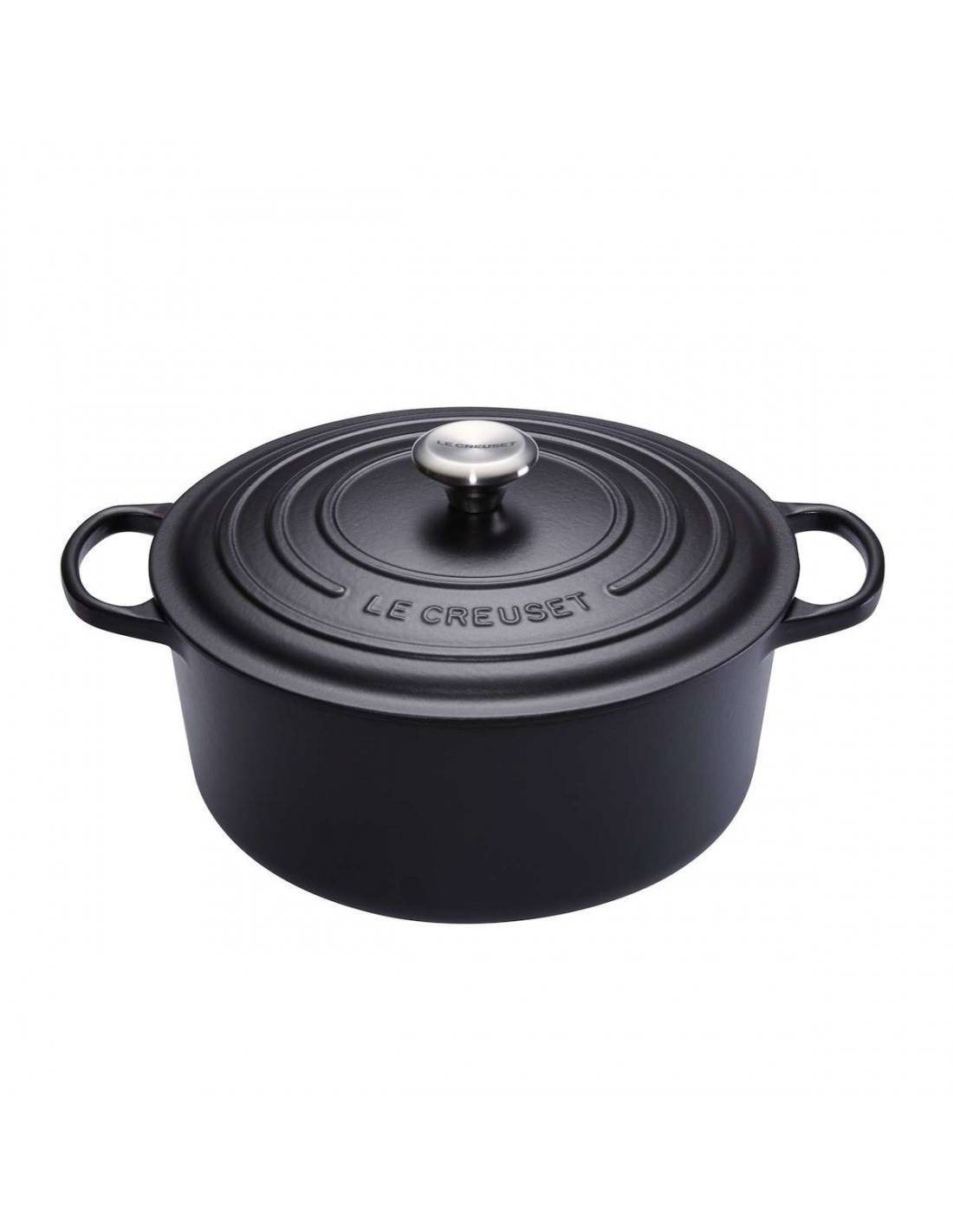 le creuset cocotte cast iron round casserole 24cm. Black Bedroom Furniture Sets. Home Design Ideas