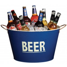 Kitchen Craft Bar Craft Lock In Large Tin Beer Pail-Cooler