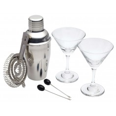 Conjunto 6 peças mini Martini Cocktail Luxe Lounge Kitchen Craft