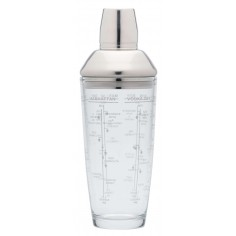 Kitchen Craft Bar Craft 700ml Glass Boston Cocktail Shaker