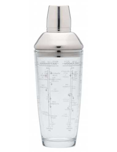Cocktail Shaker em Vidro 700ml Boston Kitchen Craft