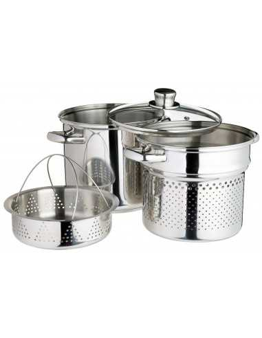 Kitchen Craft Pasta Pot With Steamer Insert