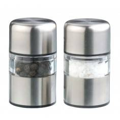 DMD Stainless Steel Mini Gem Salt and Pepper Mill Set