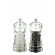 DMD Mini President Salt and Pepper Mill Set Clear