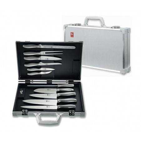 ICEL Absolute Steel Chefs attache case-11 Pieces - Mimocook