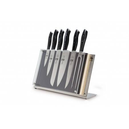 ICEL Douro Gourmet 6 pieces knife block - Mimocook
