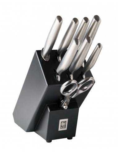 ICEL Platina 8 pieces knife blocks - Mimocook