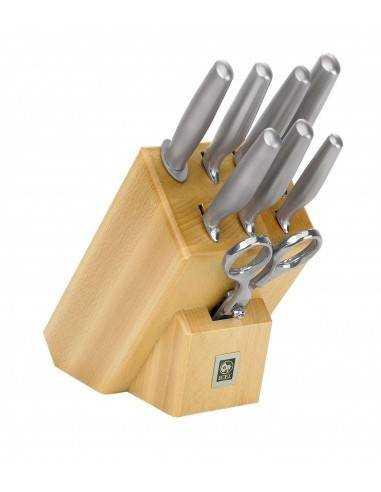 ICEL Platina 8 pieces knife blocks