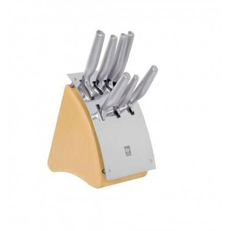 ICEL Platina 7 pieces round knife blocks - Mimocook
