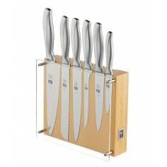 Bloco de facas com 6 peças - Absolute Steel