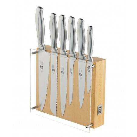 ICEL Absolute Steel 6 pieces knife blocks - Mimocook