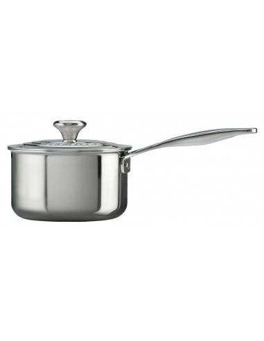Le Creuset Signature Stainless Steel Saucepan with Lid