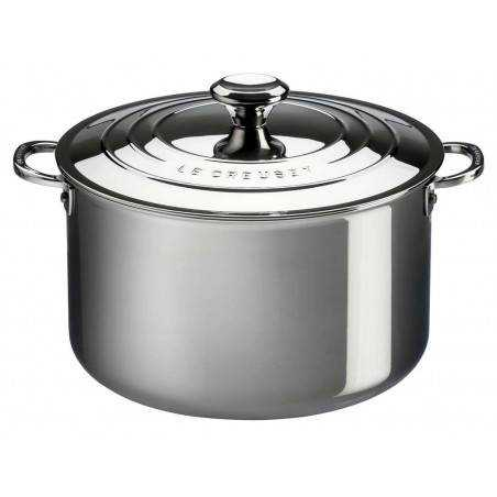 Le Creuset Signature Stainless Steel Stockpot with Lid - Mimocook