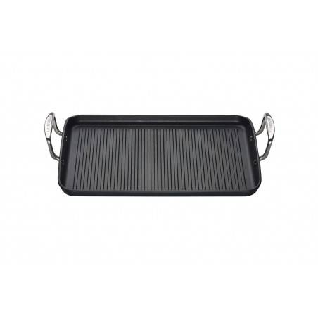 Le Creuset Toughened Non-Stick Ribbed Rectangular Grill - Mimocook
