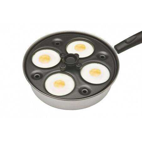 Kitchen Craft Aluminium Coated Carbon Steel Four Hole Egg Poacher - Mimocook