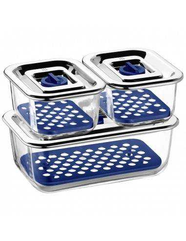 WMF Top Serve Storage and Serving Containers with Drainage Grille Set of 3