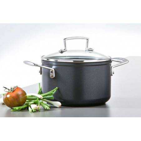 Le Creuset Stewing Pot with Glass Lid Forged Aluminium - Mimocook