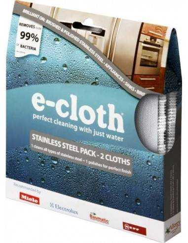 E-Cloth Stainless Steel Pack 2 Cloths