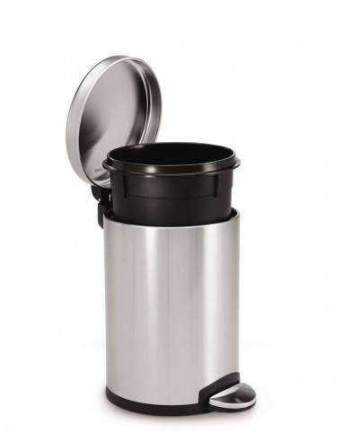 Simplehuman Round Pedal Bin Fingerprint-Proof Brushed Stainless Steel - Mimocook