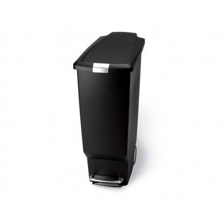 Simplehuman 25L Slim Black Pedal Bin - Mimocook