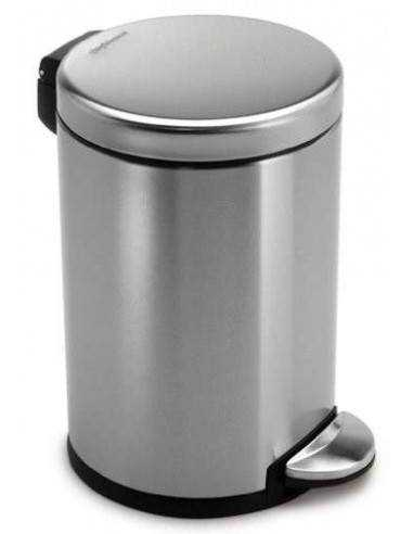 Simplehuman Round Pedal Bin Fingerprint-Proof Brushed Stainless Steel