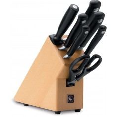Wusthof Grand Prix II knife block set with 7 pieces