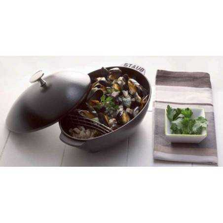 Staub Mussel Pot with Lid 25 cm - Mimocook