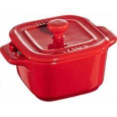 Staub 2x Mini Ceramic square Cocotte with lid