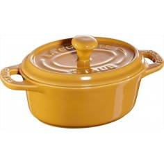 Staub Mini Ceramic oval Cocotte with Lid