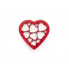 Bolachas puzzle corações Lékué