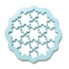 Bolachas puzzle flocos de neve Lékué