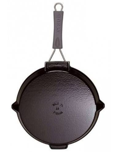 Staub Cast Iron Round Grill Pan with Flip Handle - Mimocook