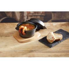 Kitchen Craft Artesà Mini Covered Cast Iron Cooking & Serving Pot
