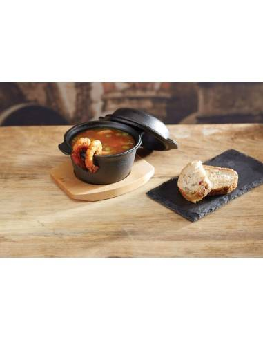 Kitchen Craft Artesà Mini Covered Cast Iron Cooking & Serving Pot - Mimocook