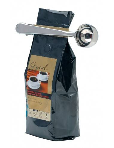 Kitchen Craft LeXpress Stainless Steel Coffee Measure and Bag Clip - Mimocook