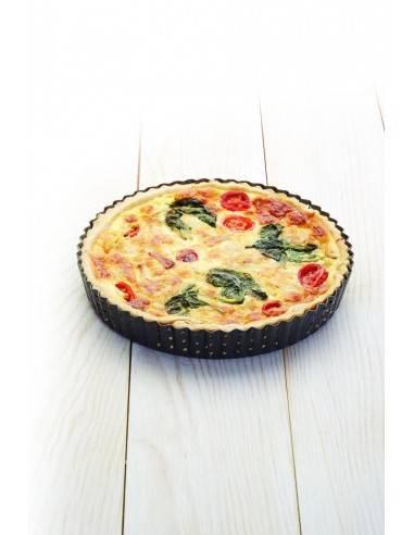 Kitchen Craft Master Class Crusty Bake Non-stick Fluted Round Quiche Tin - Mimocook