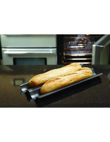 Kitchen Craft Master Class Crusty Bake Non-Stick Baguette Tray - Mimocook