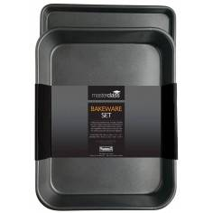 Kitchen Craft Master Class Twin Pack - Non-Stick Roasting Pan and Oven Tray