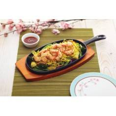 Kitchen Craft World of Flavours Oriental Iron Sizzle Platter
