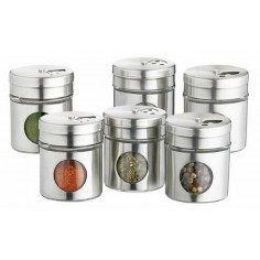 Kitchen Craft Home Made Set of 6 Stainless Steel Spice Jars