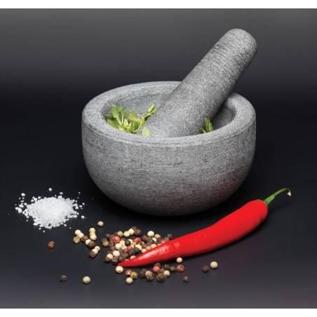 Almofariz e pilão em granito Master Class Kitchen Craft - Mimocook