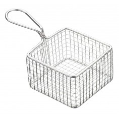 Kitchen Craft Master Class Professional Mini Deluxe Stainless Steel Square Fry Basket