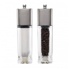 Kitchen Craft Master Class Filled Stainless Steel Salt and Pepper Set
