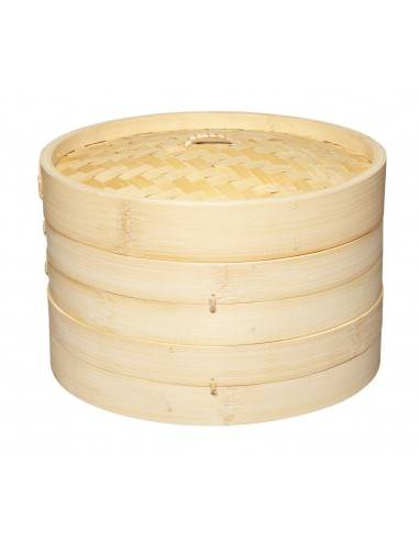 Kitchen Craft World of Flavours Oriental Large Two Tier Bamboo Steamer - Mimocook