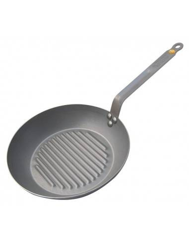 De Buyer Mineral B Element Round Grill Frying Pan