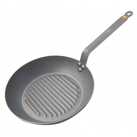 De Buyer Mineral B Element Round Grill Frying Pan - Mimocook