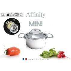 Mini panela inox com tampa Affinity da De Buyer