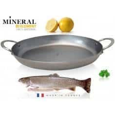 De Buyer Mineral B Element oval roasting pan
