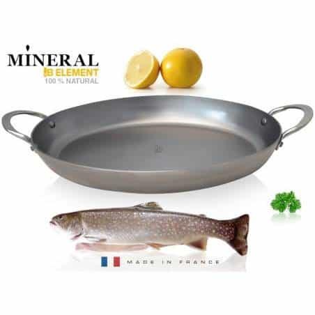 De Buyer Mineral B Element oval roasting pan - Mimocook