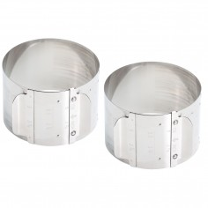 Kitchen Craft Master Class Stainless Steel Adjustable Cooking Rings